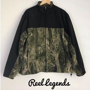 Reel Legends Camo Fleece Full Zip Jacket Men's L